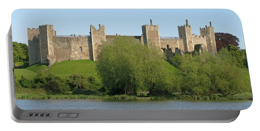 England Portable Battery Charger featuring the photograph Framlingham Castle by Ann Horn