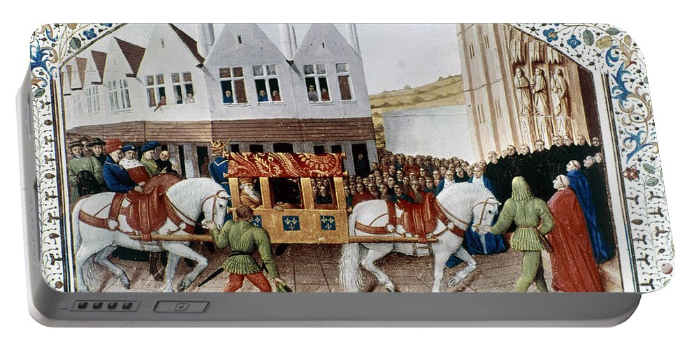 14th Century Portable Battery Charger featuring the photograph France: Charles Iv by Granger