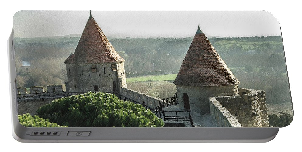 Tours Portable Battery Charger featuring the painting France - Id 16235-220244-1257 by S Lurk
