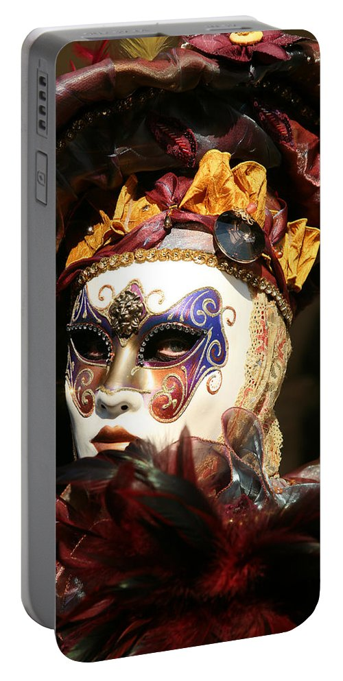 Venice Portable Battery Charger featuring the photograph Francine - Over The Shoulder by Donna Corless