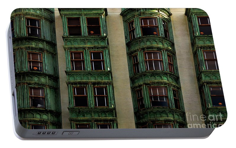 San Francisco Portable Battery Charger featuring the photograph Columbus Tower San Francisco by Bob Christopher