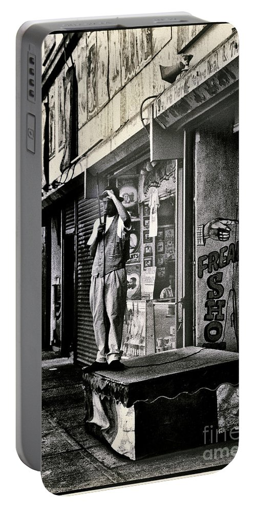 Freak Portable Battery Charger featuring the photograph Freak Show by Madeline Ellis