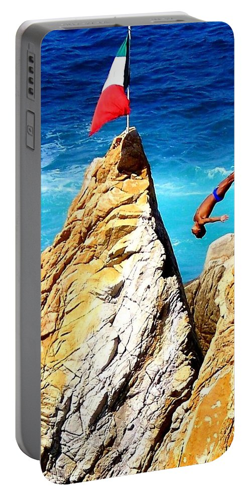Mexico Portable Battery Charger featuring the photograph Free Falling by Karen Wiles