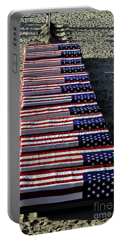 Clay Portable Battery Charger featuring the photograph Freedom Costs by Clayton Bruster