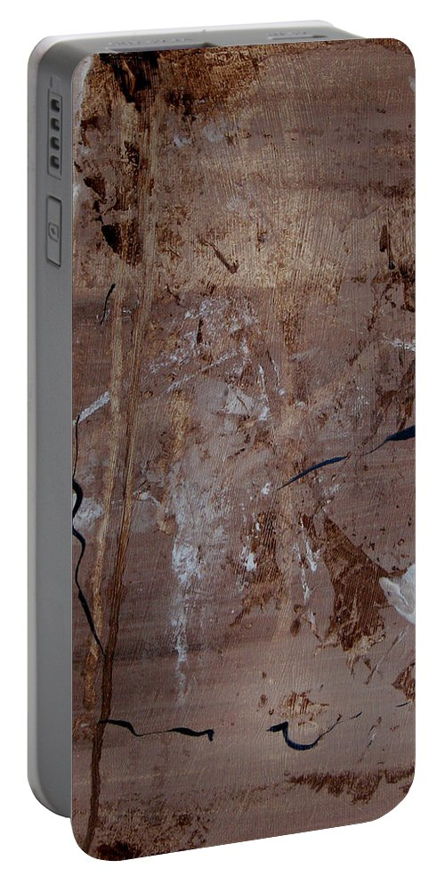 Abstract Portable Battery Charger featuring the painting Freedom Of Expression by Ruth Palmer