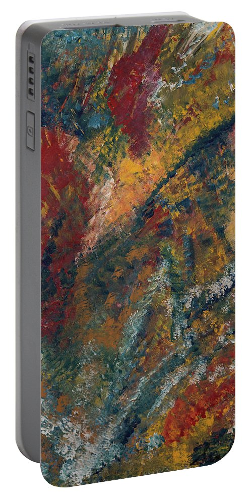 Freedom Portable Battery Charger featuring the painting Freedom by Sandie DeConda