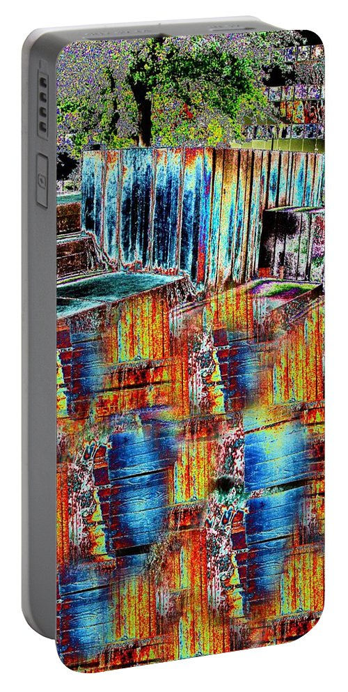 Freeway Park Portable Battery Charger featuring the digital art Freeway Park 8 by Tim Allen