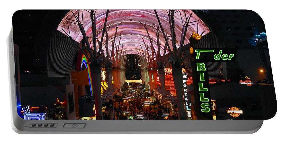 Fremont Street Portable Battery Charger featuring the photograph Fremont Street by David Lee Thompson