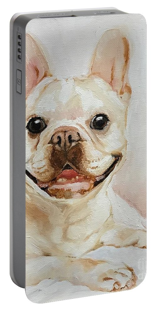 Pet Portable Battery Charger featuring the painting French Bulldog by Boni Arendt