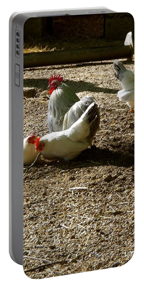 French Portable Battery Charger featuring the photograph French Fowl by John Tschirch