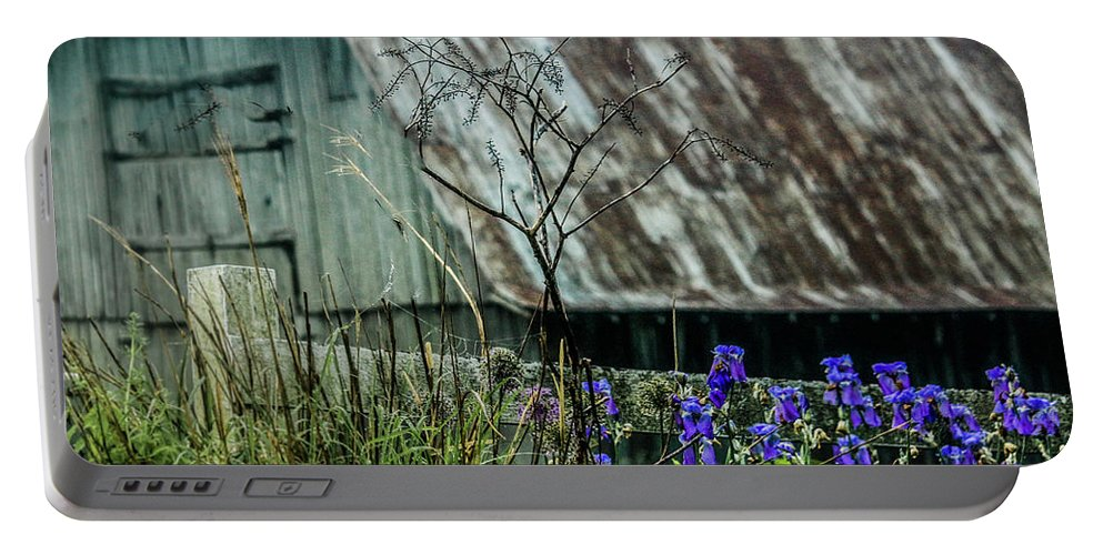 Farm Portable Battery Charger featuring the photograph French Lick Indiana by Dennis R Bean