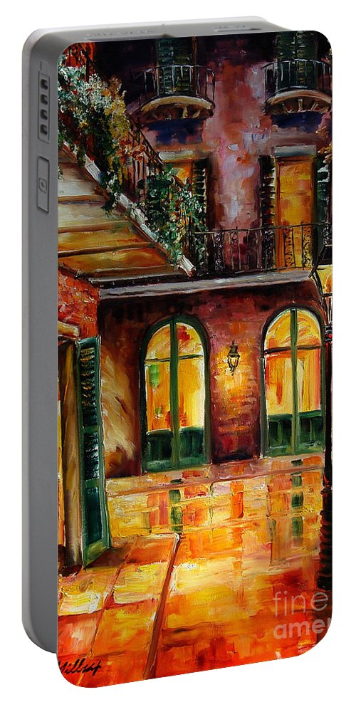 New Orleans Portable Battery Charger featuring the painting French Quarter Alley by Diane Millsap