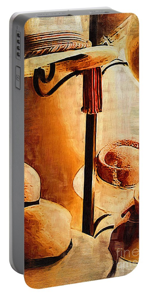 Hats Portable Battery Charger featuring the photograph French Quarter Hats by Kathleen K Parker