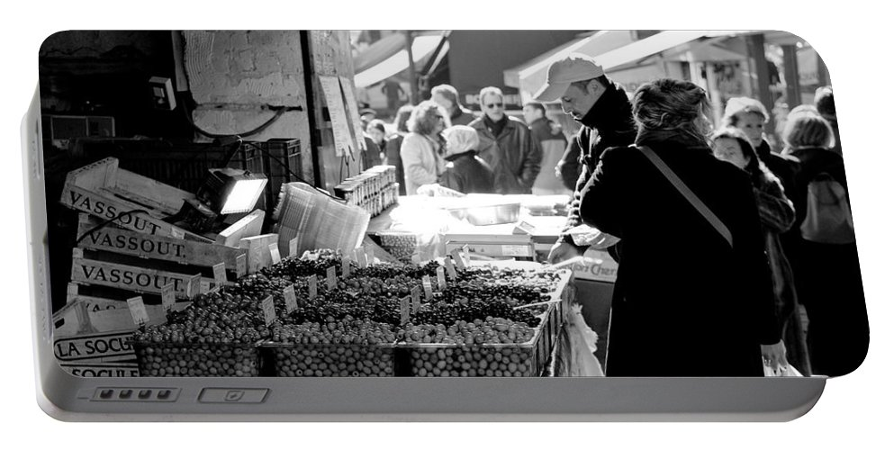 France Portable Battery Charger featuring the photograph French Street Market by Sebastian Musial