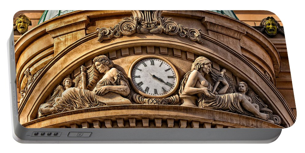 Carving Portable Battery Charger featuring the photograph French Time by Christopher Holmes
