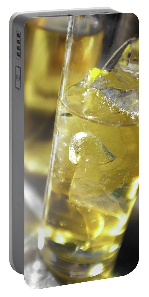Acid Portable Battery Charger featuring the photograph Fresh Drink With Lemon by Carlos Caetano