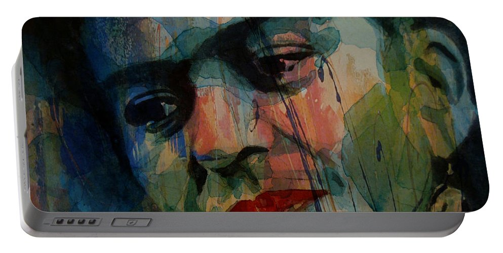 Frida Kahlo Portable Battery Charger featuring the painting Frida Kahlo Colourful Icon by Paul Lovering