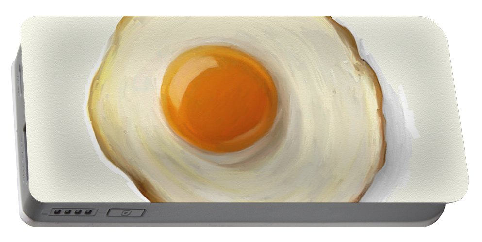 Egg Portable Battery Charger featuring the digital art Fried Egg by Kang Untung