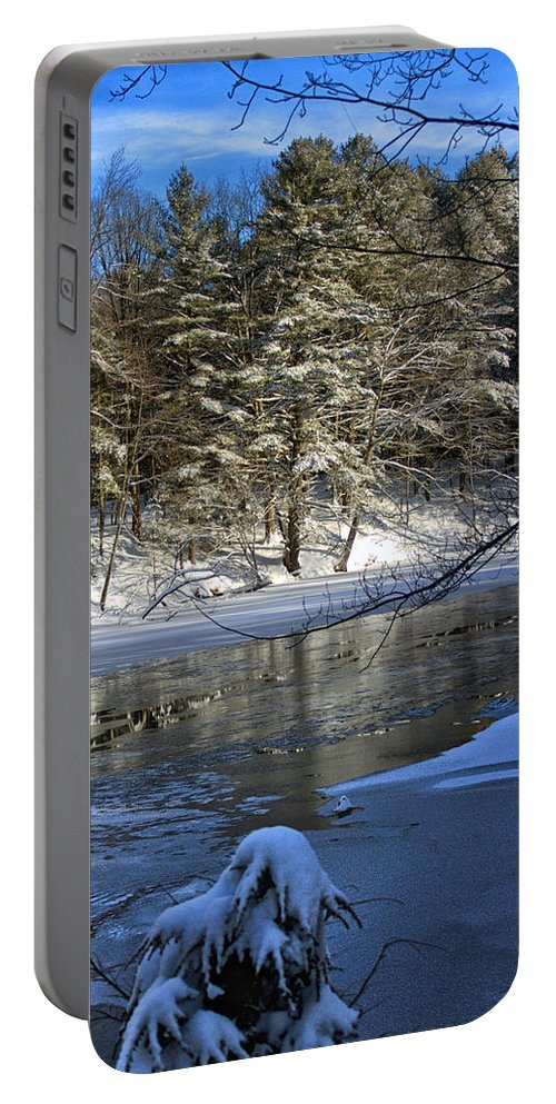 Winter Portable Battery Charger featuring the photograph Frigid Slumber by Catherine Melvin