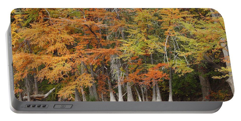 Fall Portable Battery Charger featuring the photograph Frio River #5 2am-27571 by Andrew McInnes