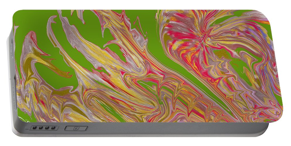 Abstract Portable Battery Charger featuring the digital art From Above by Ian MacDonald