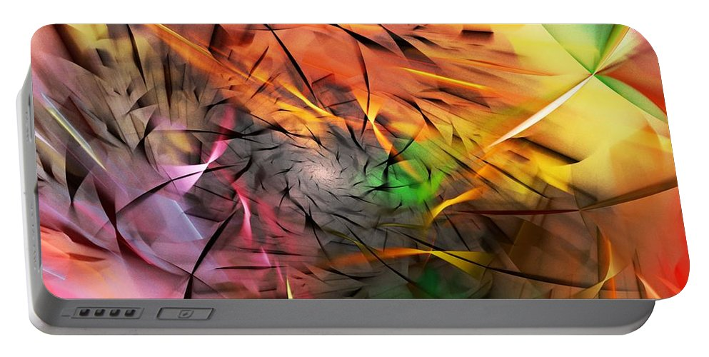 Digital Painting Portable Battery Charger featuring the digital art From Both Sides Now by David Lane