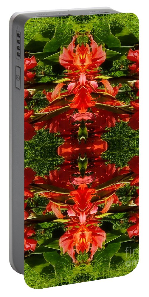 From Outer Space Portable Battery Charger featuring the digital art From Outer Space by Mariola Bitner