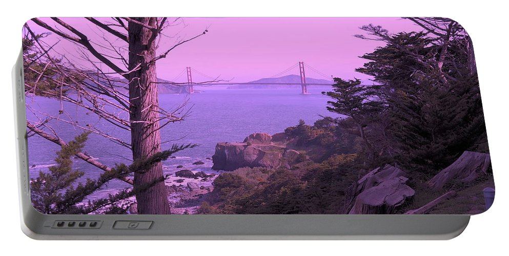Landscape Portable Battery Charger featuring the photograph From The Cliff Of Lands End 06 by Pusita Gibbs