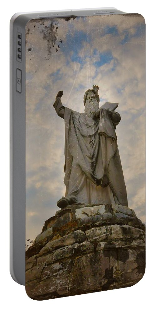 Moses Portable Battery Charger featuring the photograph From The Mountain On High by Bill Cannon