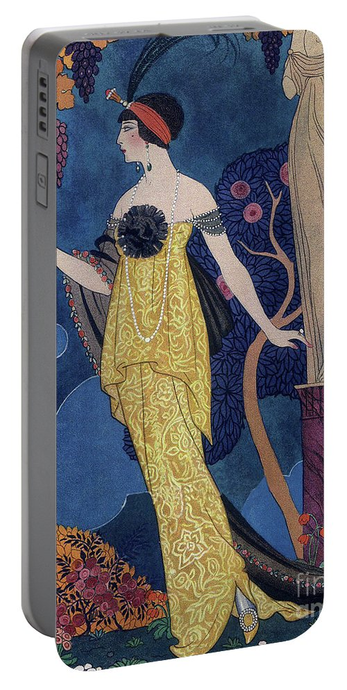 Barbier Portable Battery Charger featuring the drawing Front Cover Of Les Modes by Georges Barbier