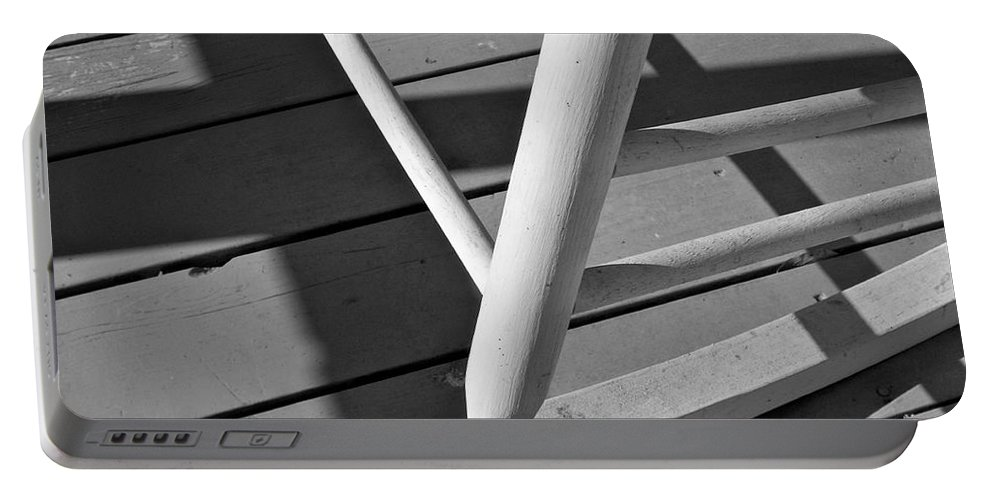 Porch Portable Battery Charger featuring the photograph Front Porch Rocker by Betty Northcutt