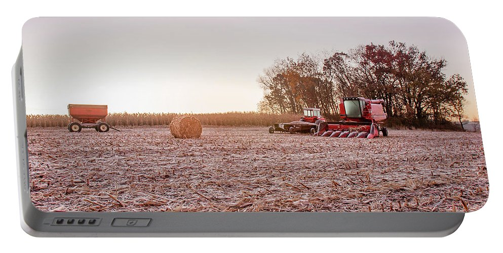 Corn Portable Battery Charger featuring the photograph Frosty Harvest by Todd Klassy