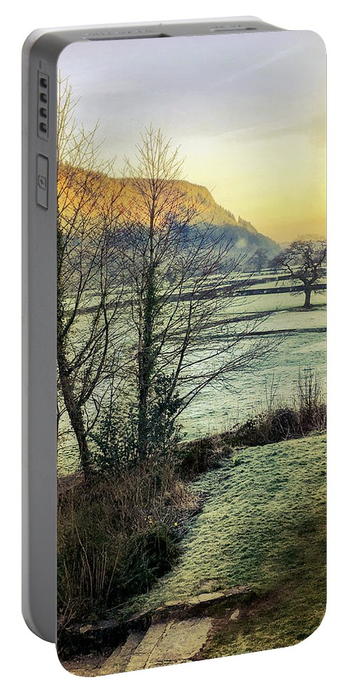 Frost Portable Battery Charger featuring the photograph Frosty Morning Light by Mo Barton