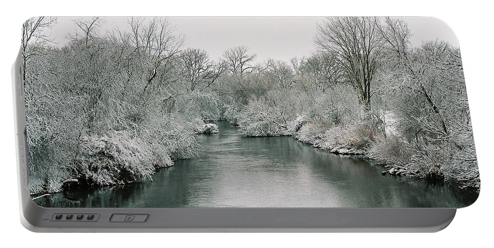 Frost Portable Battery Charger featuring the photograph Frosty River by Lauri Novak