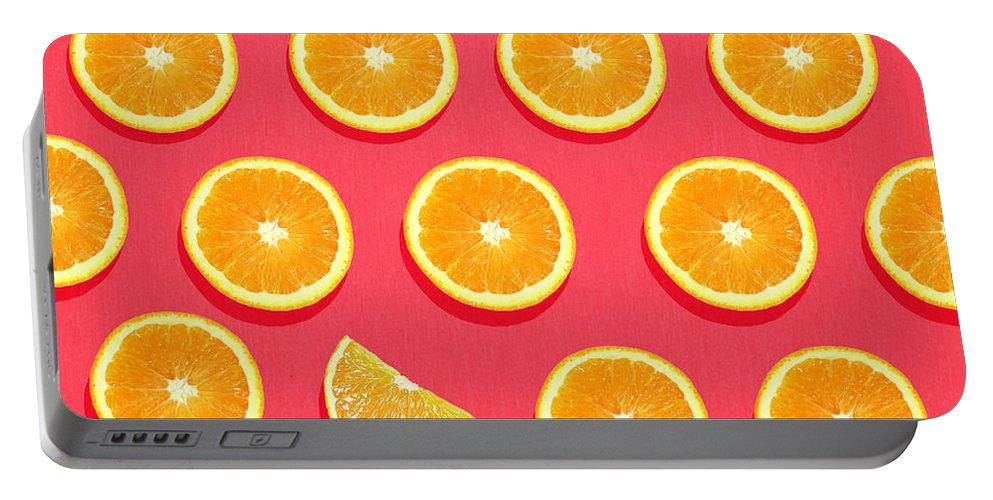 Abstract Portable Battery Charger featuring the painting Fruit 2 by Mark Ashkenazi