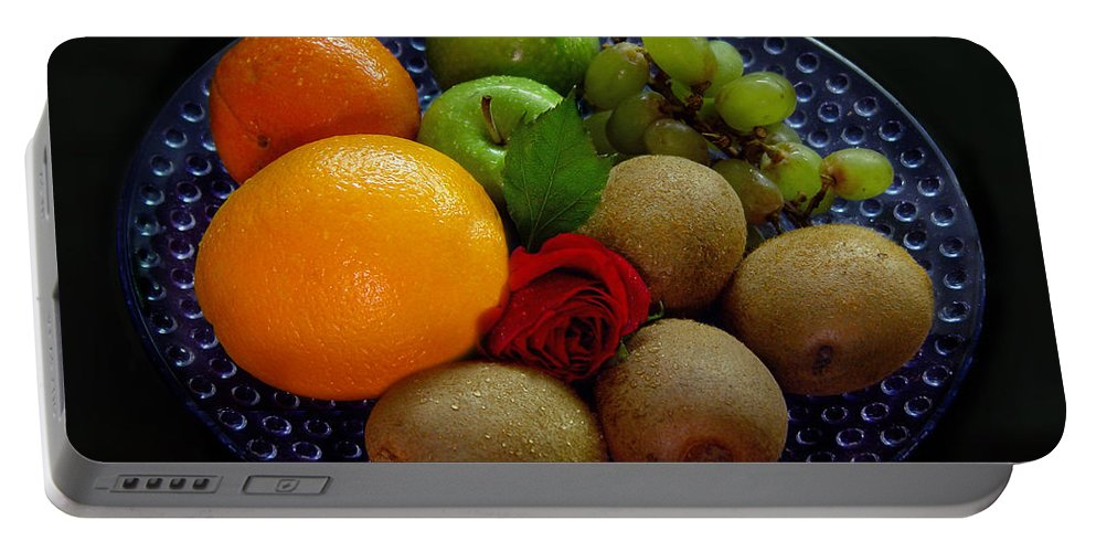 Fruit Dish Portable Battery Charger featuring the photograph Fruit Dish by Peter Piatt