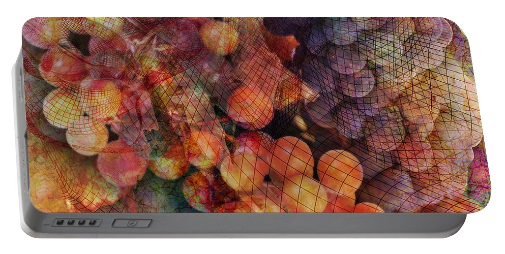 Grapes Portable Battery Charger featuring the digital art Fruit Of The Vine by Barbara Berney