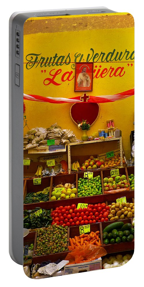 Skip Hunt Portable Battery Charger featuring the photograph Frutas Y Verduras by Skip Hunt