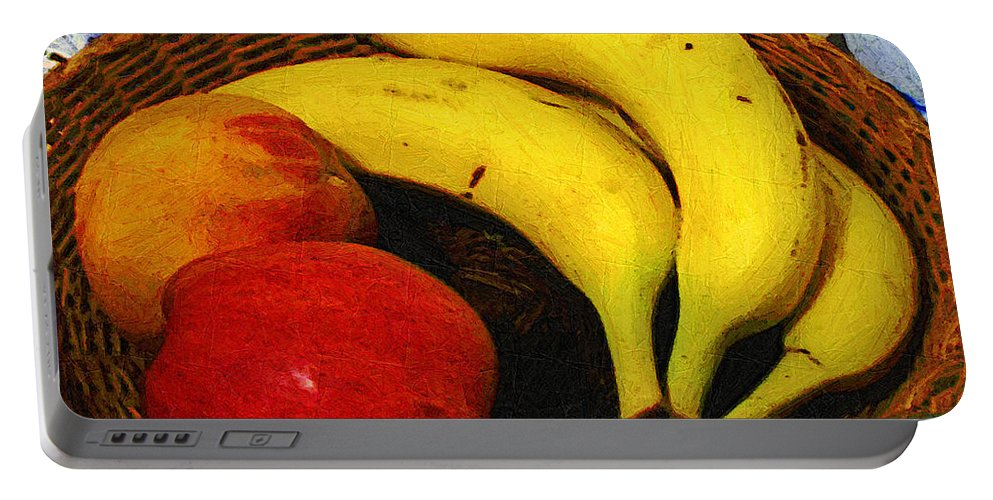 Food Portable Battery Charger featuring the painting Frutta Rustica by RC DeWinter