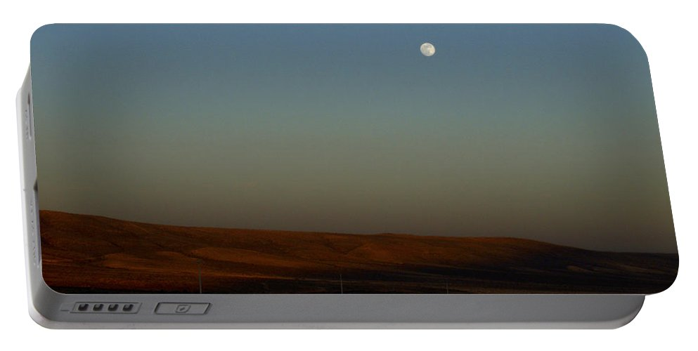 Canary Island Portable Battery Charger featuring the photograph Fuenteventura Moon by Jouko Lehto