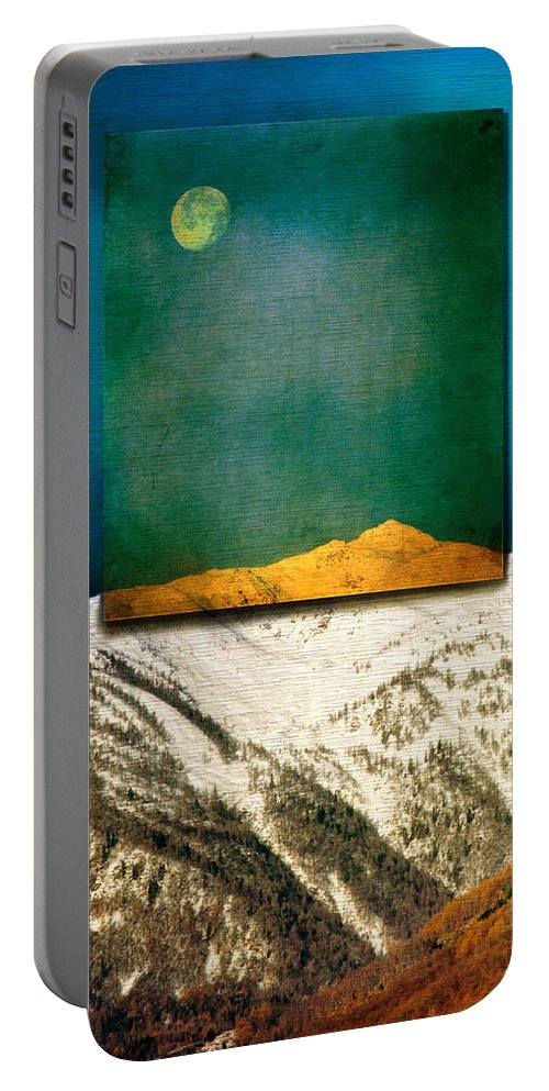 Moon Portable Battery Charger featuring the photograph Full Moon by Silvia Ganora