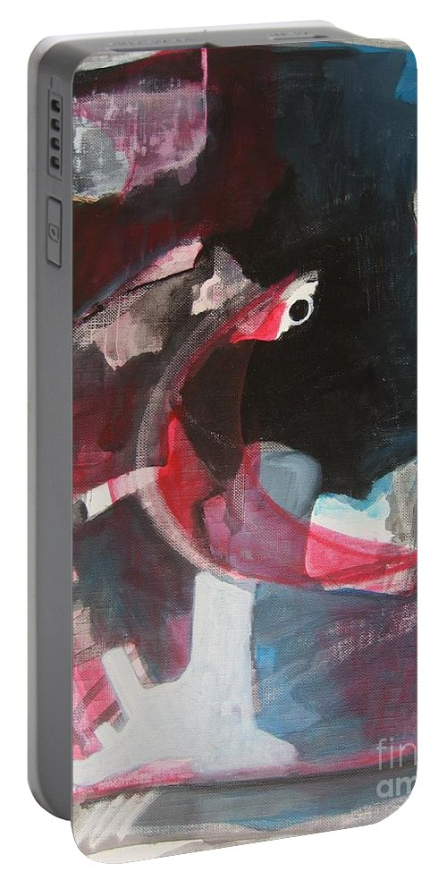 Abstract Paintings Paintings Abstract Art Paintings Portable Battery Charger featuring the painting Fumbling With Memory by Seon-Jeong Kim