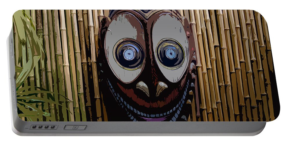 Funny Portable Battery Charger featuring the digital art Funny Face by David Lee Thompson