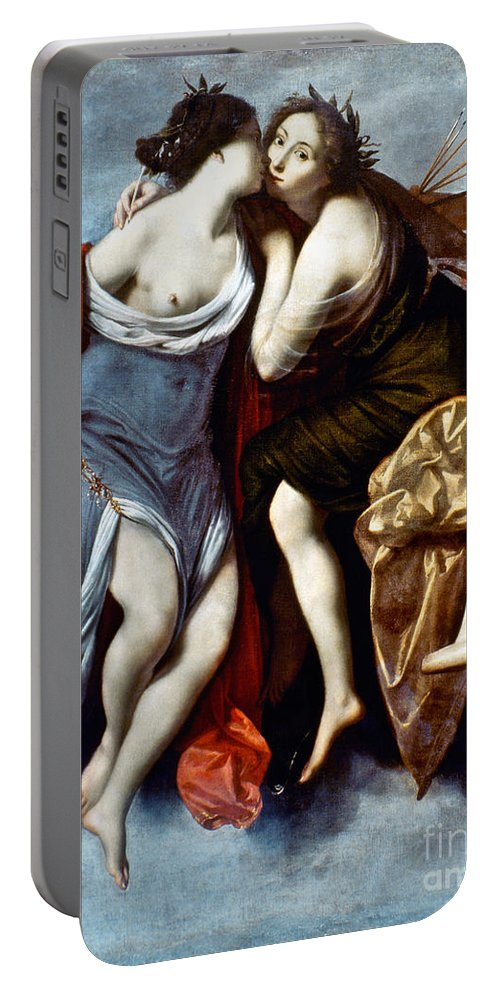 Aod Portable Battery Charger featuring the painting Furini: Muses, 17th Century by Granger