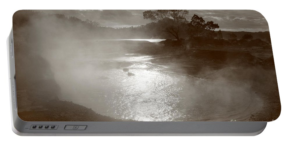 Furnas Portable Battery Charger featuring the photograph Furnas hotsprings by Gaspar Avila