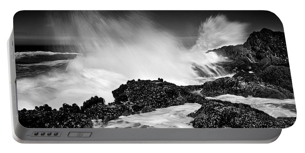 Waves Portable Battery Charger featuring the photograph Fury by Mike Dawson