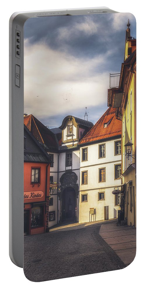 6x4 Portable Battery Charger featuring the photograph Fussen In The Morning by Chris Fletcher