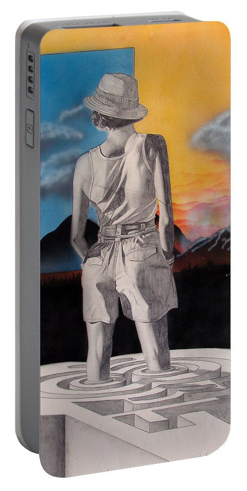 Shaun Portable Battery Charger featuring the painting Future by Shaun McNicholas