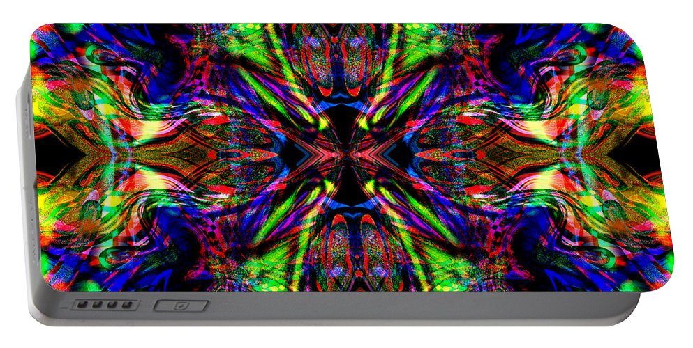 Abstract Portable Battery Charger featuring the digital art Gadon by Blind Ape Art