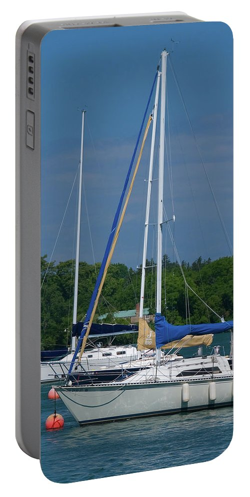 Boat Portable Battery Charger featuring the photograph Gaelforce 10916 by Guy Whiteley